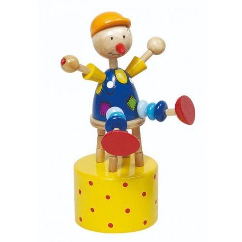Goki druckfigur Clown 12 cm gelb