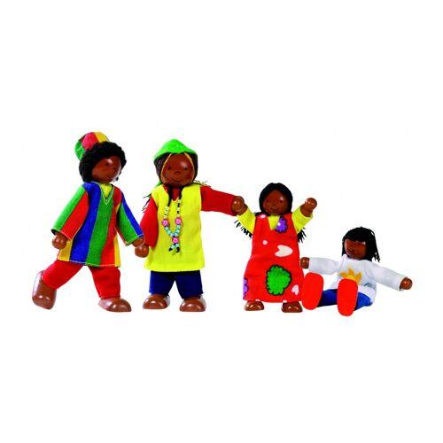 Goki Biegen von Holz Puppen Set afrikanischen Familie 9 11cm