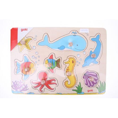 Goki Buttons Puzzle mit Meerestieren