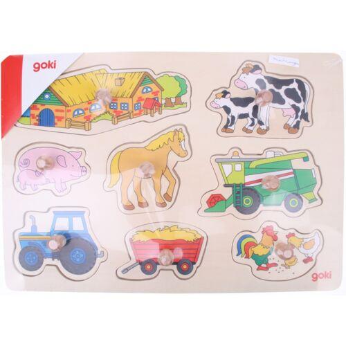 Goki puzzle Erntehelfer, Bauernhof & Tiere Junior 8 Teile