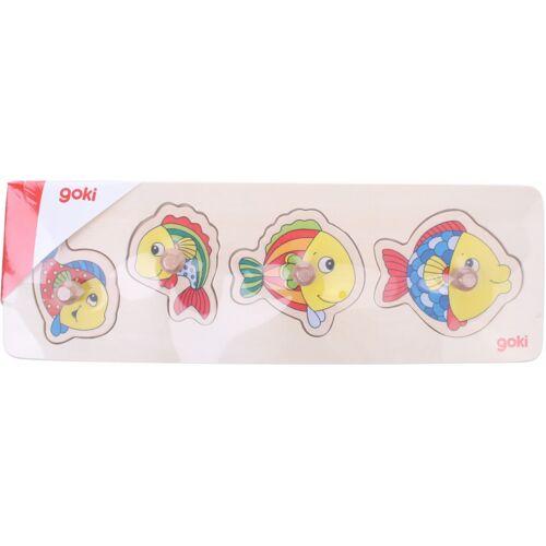 Goki puzzle Fisch junior Holz 4 Teile