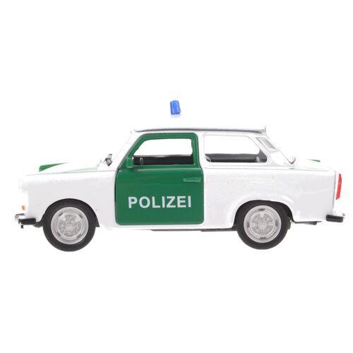 Goki politie Trabant 601 weiß / grün 11 cm