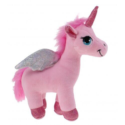 Kamparo kuscheltier Pegasus Einhorn 18 cm rosa