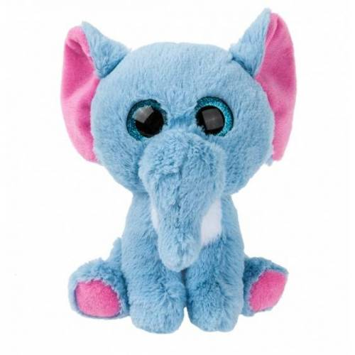 Kamparo plüschtier Elefant 16 cm blau