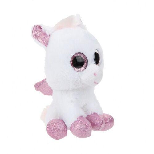Kamparo plüsch Kuscheltier Pegasus 22 cm weiß/rosa