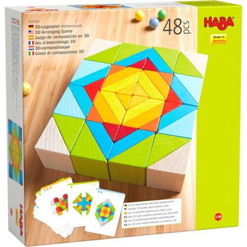 Haba zusammengesetztes Spielblockmosaik 3 D Juniorenholz 48 Blöcke