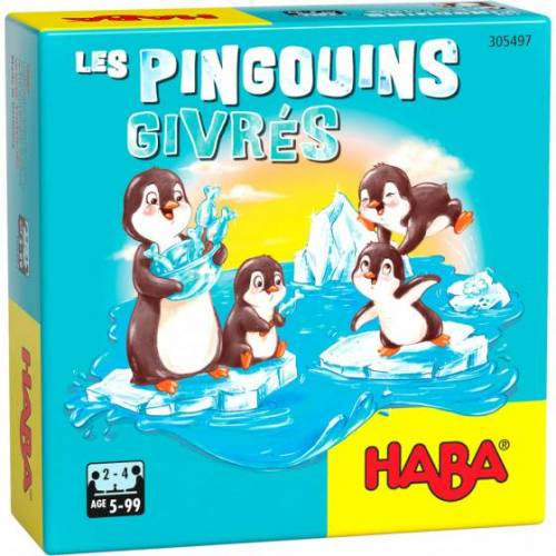 Haba brettspiel Pinguin Flip Junior Pappe/Holz 33 teilig (FR)