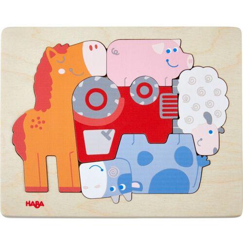 Haba form Puzzle Bauernhof 22 x 17,5 cm Junior Holz