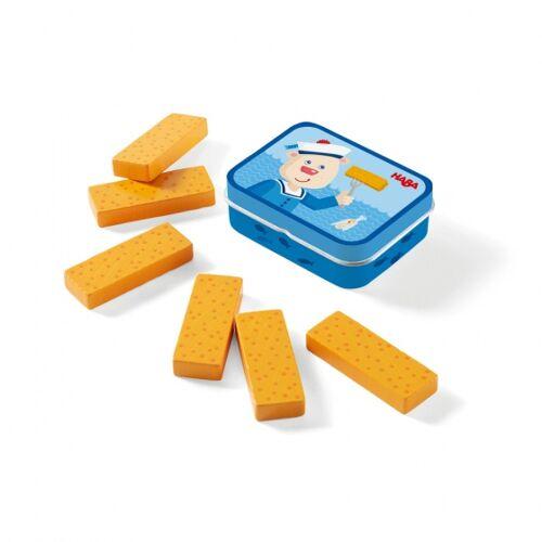 Haba spielzeug Fischstäbchen gelb mit Aufbewahrungsbox 7 teilig