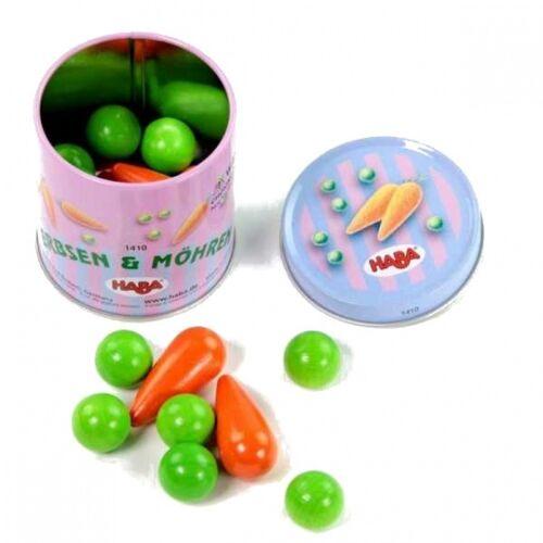 Haba spielzeug Lebensmittel Karotten und Erbsen 6 x 6 cm 23 Stück