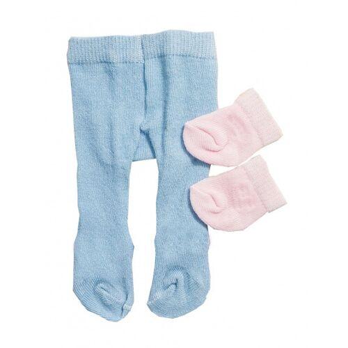 Heless strumpfhosen und Socken für eine Puppe von 28 35 cm blau/pink