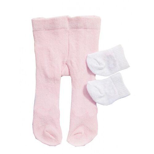 Heless strumpfhosen und Socken für eine Puppe von 28 35 cm rosa/weiß
