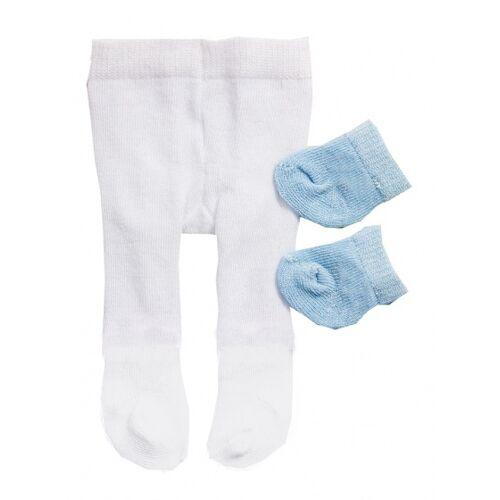 Heless strumpfhosen und Socken für eine Puppe von 28 35 cm weiß/blau
