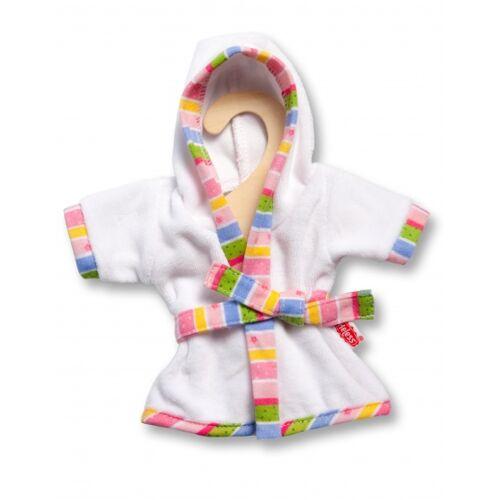 Heless puppenbademantel für Puppen von 20 25 cm weiß