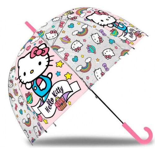 Hello Kitty regenschirm Mädchen 45 cm rosa/transparent