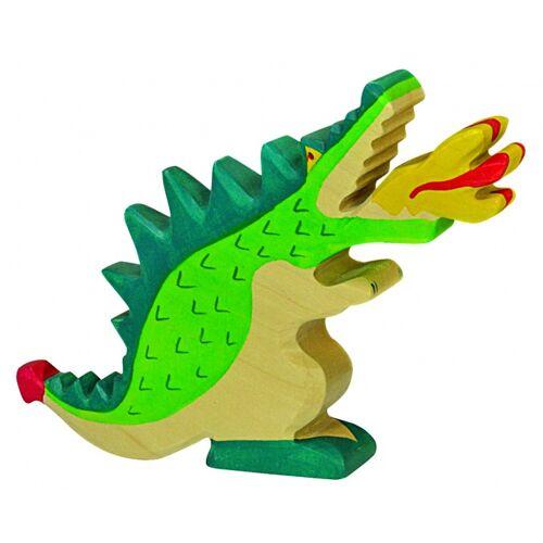 Holztiger Märchen und Ritter: Green Dragon (19 cm)