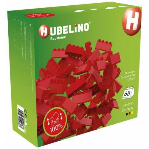 Hubelino dachziegel Set junior 24,5 x 9,5 cm rot 68 teilig