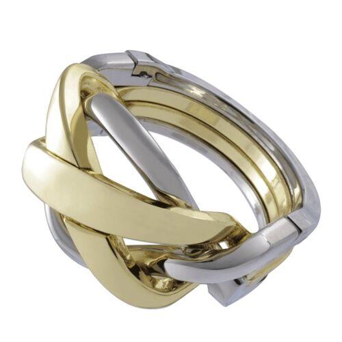 Huzzle Breinbeker Gussring Silber / Gold