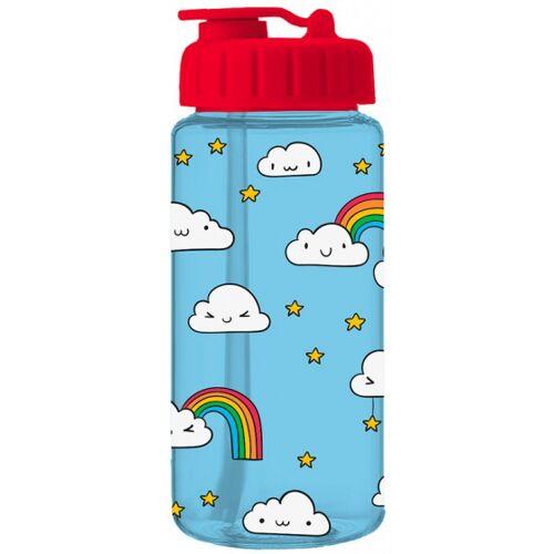 I-Drink I Drink trinkflasche Clouds mit Strohhalm 400 ml blau/rot