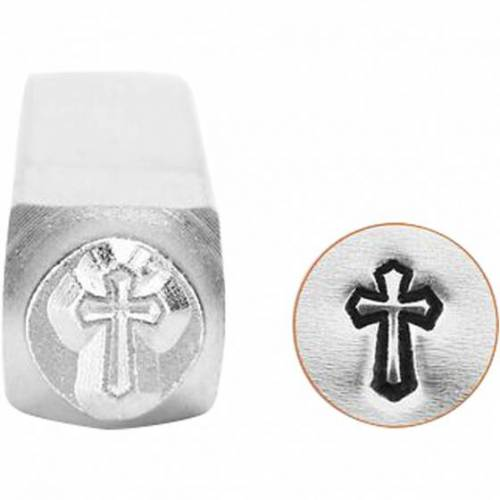 ImpressArt Prägestempel Silber 6 mm Kreuz