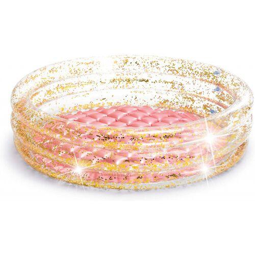 Intex aufblasbarer Pool Glitter 86 x 25 cm Vinyl rosa/gold