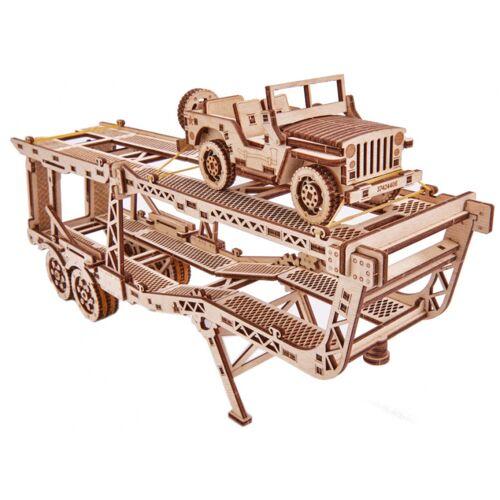 Wood Trick modellbausatz Autoanhänger Holz natur 229 teilig