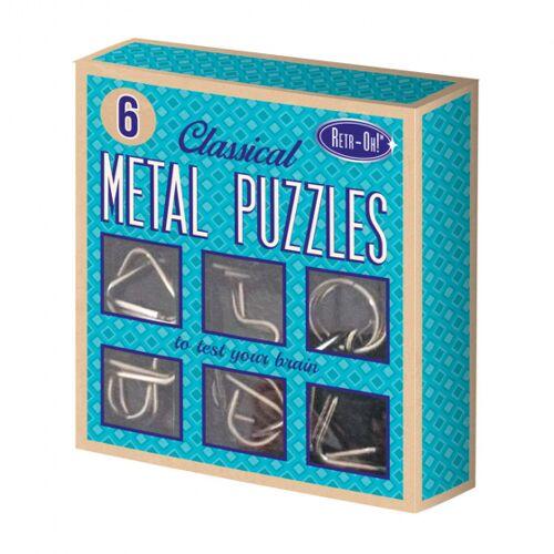Invento metallpuzzle retr Oh unisex blau 6 Teile