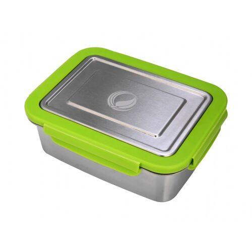 ECOtanka Edelstahl Lunchbox 2 Liter silber/grün