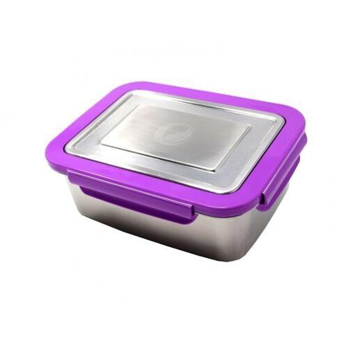 ECOtanka Edelstahl Lunchbox 2 Liter silber/lila