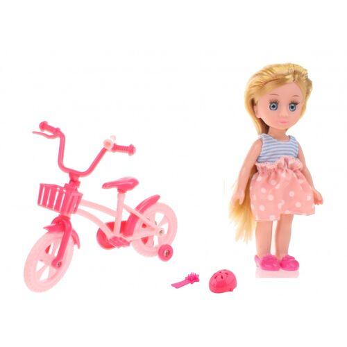 Johntoy pop Lily Dollsmein erstes Fahrrad 15cm 4 teiliger blonder Rock