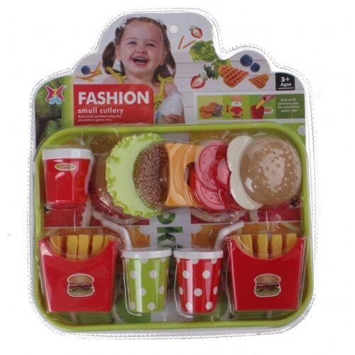 Jonotoys fastfood Set auf Tablett 15 teilig
