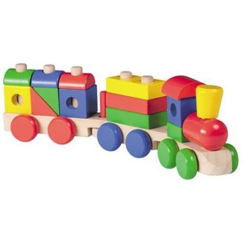 Jouéco Holzklötzchen Zugwaggons
