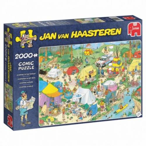 Jumbo puzzle Jan van Haasteren Camping in the Bos 2000 st.