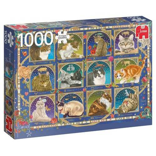 Jumbo puzzle Kattenhoroscoop 1000 Teile