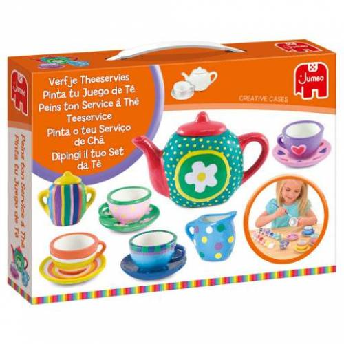 Jumbo bemalen Sie Ihr Teeservice 15 teilig