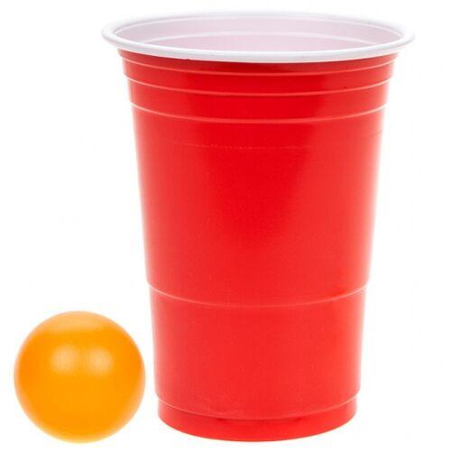 Kamparo trinkspiel Beerpong 12 cm orange/rot 24 teilig