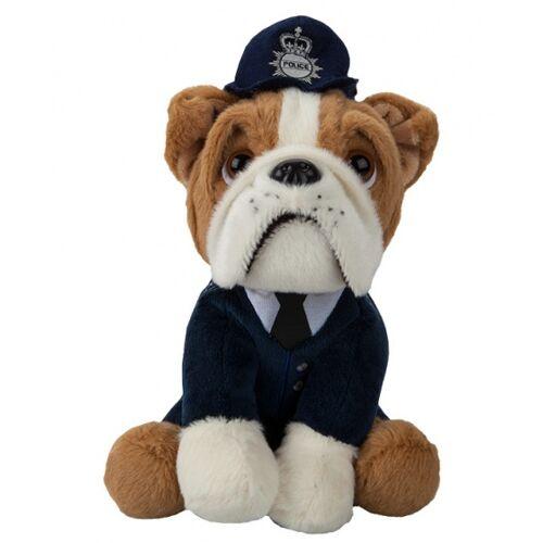 Kamparo kuscheltier Bulldogge in Polizeiuniform 20 cm braun
