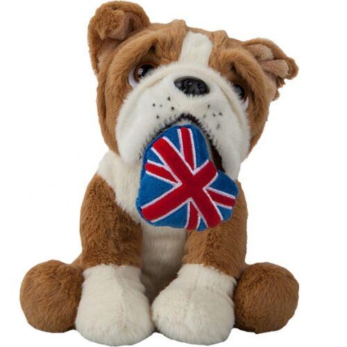 Kamparo kuscheltier Bulldogge mit Union Jack 20 cm braun/weiß