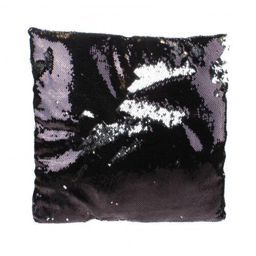 Kamparo kissen mit Pailletten schwarz silber 30 cm