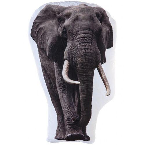 Kamparo elefantenkissen weiß/grau 62 cm
