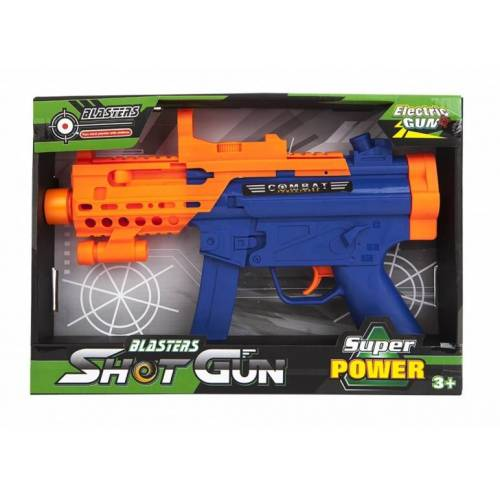 Kamparo maschinengewehr mit Licht und Ton blau/orange 31 cm