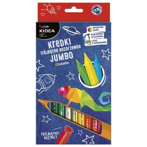 Kidea buntstifte mit extra starker Spitze dreieckig 12 Stück