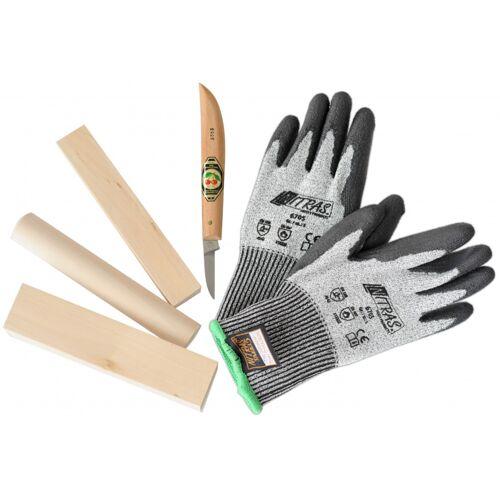 Kids At Work handschuhe, Holzmesser, Balken und Stange