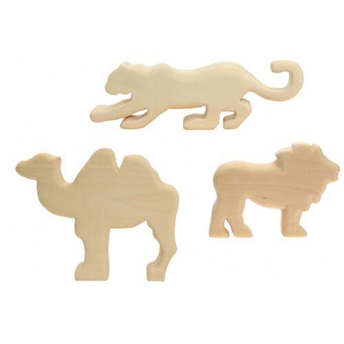 Kids At Work kamel , Jaguar  und Löwenschnitzereien groß