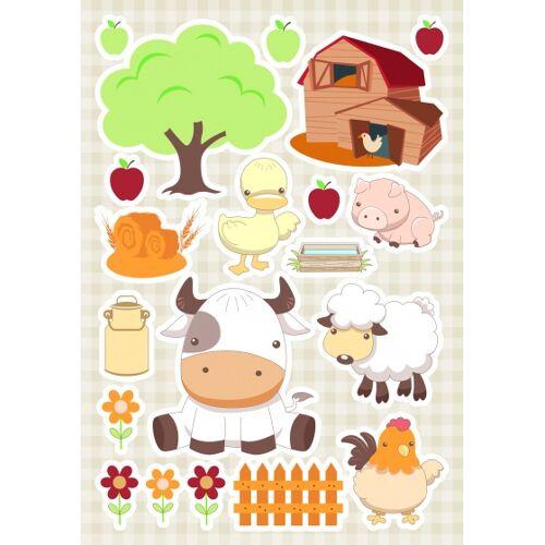 Kids Decor wandaufkleber Baby Farm 47 x 70 cm