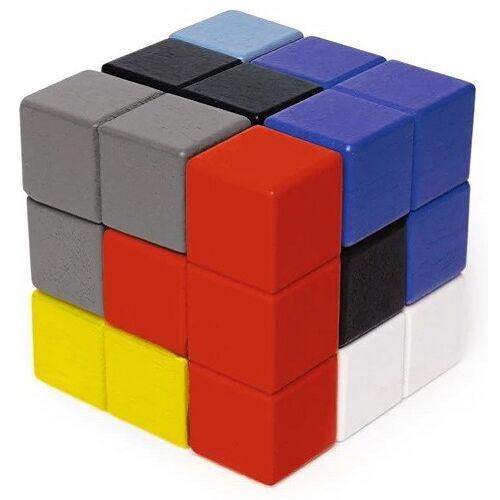 Kikkerland 3D Puzzle Kubus 7,5 x 7,5 cm Holz