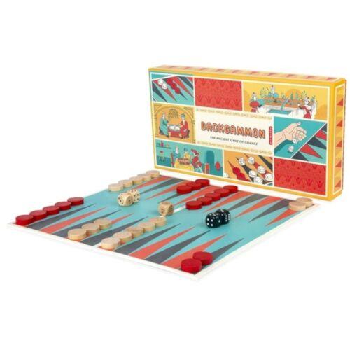 Kikkerland brettspiel Backgammon 30 x 30 cm Papier/Holz 4 teilig