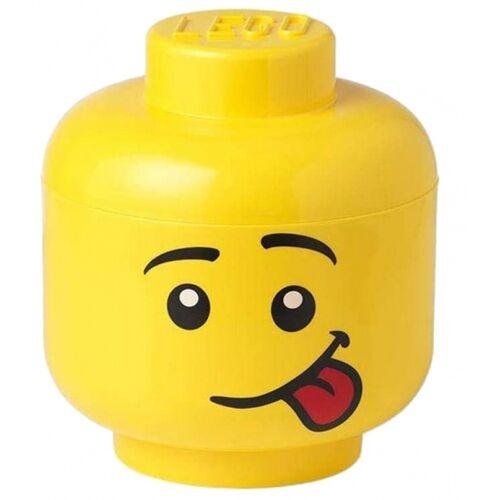 Lego aufbewahrungskasten Kopf Silly groß 24 x 27 cm Polypropylen gelb