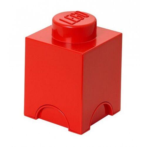 Lego speicherstein 1 nop 12,5 x 18 cm Polypropylen rot