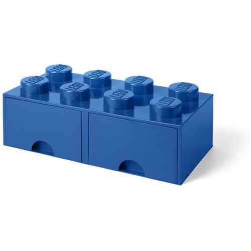 Lego aufbewahrungsstein mit Schubladen 8 Noppen 50 x 18 cm PP blau